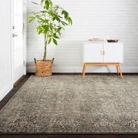 Antique Inspired Vintage Grey/ Stone Distressed Rug - 12' x 15'