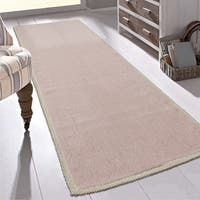 "Ottomanson Nature Cotton Kilim Collection Solid Color Runner Rug - 1'8"" x 4'11"""