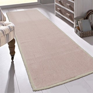 """Ottomanson Nature Cotton Kilim Collection Solid Color Runner Rug (20"""" X 59"""") - 1'8"""" x 4'11"""""""