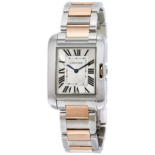 Cartier Men's Tanks Anglaise Silver Watch