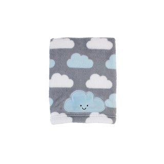 Little Love Happy Little Clouds Allover Print Coral blanket