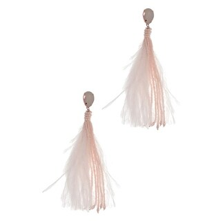 Handmade Saachi Trendy Feather Tassel Earring ( China )