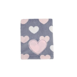 Little Love Hugs & Kisses Allover Print Coral blanket
