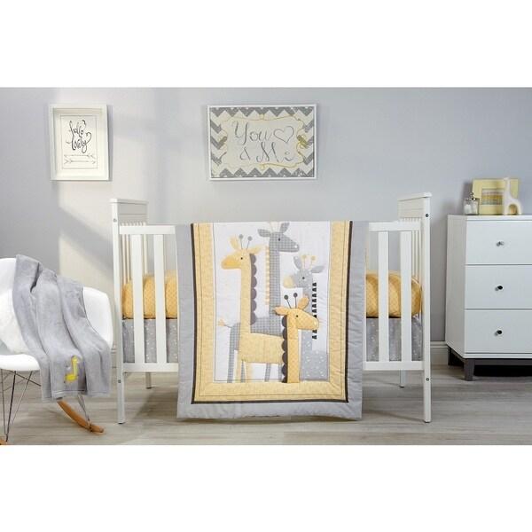Little Love Giraffe Time Yellow 4pc Bedding Set