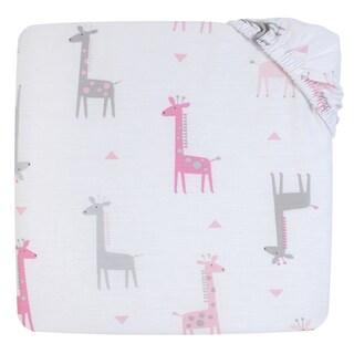 Little Love Giraffe Time Pink 2pk sheet set