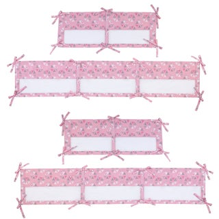 Little Love Giraffe Time Pink Crib Liner