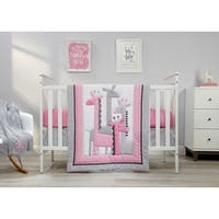Little Love Giraffe Time Pink 4pc Bedding Set