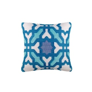 "Fab Habitat Seville Multicolor Blue Outdoor Accent Pillow (16.5"" x 16.5"")"