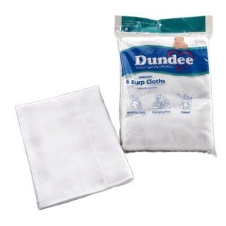 Dundee Burp Cloths White (6 per pack)