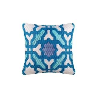 """Fab Habitat Seville Multicolor Blue Outdoor Accent Pillow (20"""" x 20"""")"""