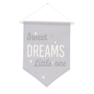 NoJo The Dreamer Collection Wall Banner Grey/White - Sweet Dreams Little One