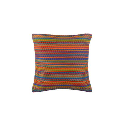 "Handmade Cancun Multicolor Outdoor Accent Pillow (India) - 16"" x 16"""