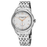 Baume Mercier Men's MO 'Clifton' Silver Dial Stainless Steel Swiss Automatic Watch