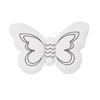 NoJo The Dreamer Collection Plush Butterfly White/Black