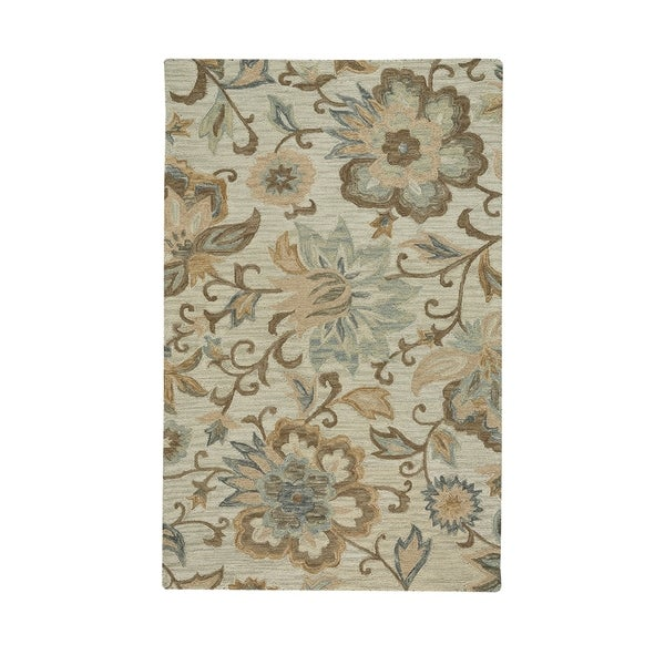 """Lincoln Blooming Multi Hand-Tufted Rectangle Area Rug (3' 6"""" x 5' 6"""") - N/A"""