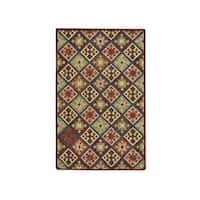 "Capel Rugs Shakta Quilt Multitone Hand-Tufted Rectangle Area Rug (3' 6"" x 5' 6"")"