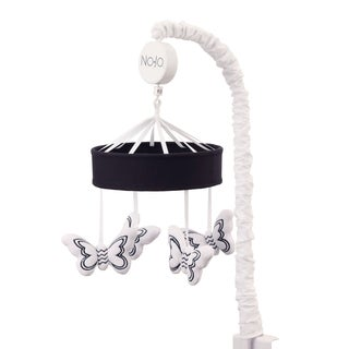 NoJo The Dreamer Collection Musical Mobile Butterflies Black/White