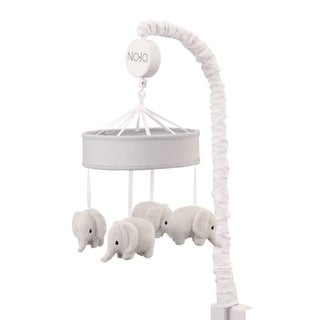 NoJo The Dreamer Collection Musical Mobile Elephants Grey