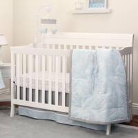 NoJo The Dreamer Collection 8pc Crib Bedding Set Floral Aqua/Grey