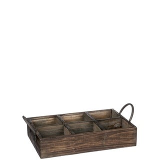 "Six Slot Crate Decor - 16.5""l x9.5""w x4.75""h"