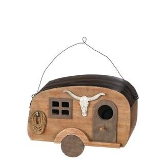"""Western Camper Birdhouse Decor - 8""""l x5""""w x5.75""""h"""