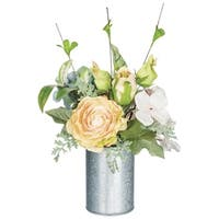 Rustic Rose and Hydrangea Potted Arrangement