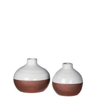 Rustic  Two-tone Terra Cotta Jug Vase Decor