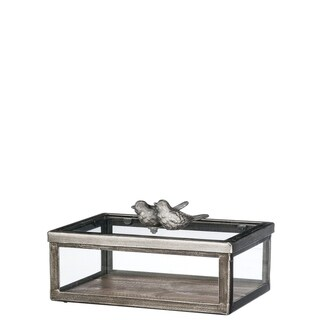 "Bird Covered Decorative Box - 8.25""l x6.25""w x4""h"