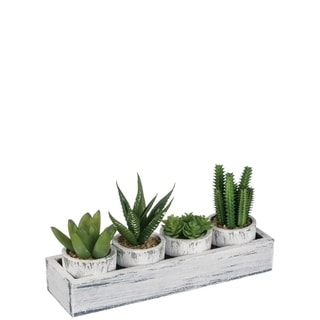 Desktop Faux Cactus Decor