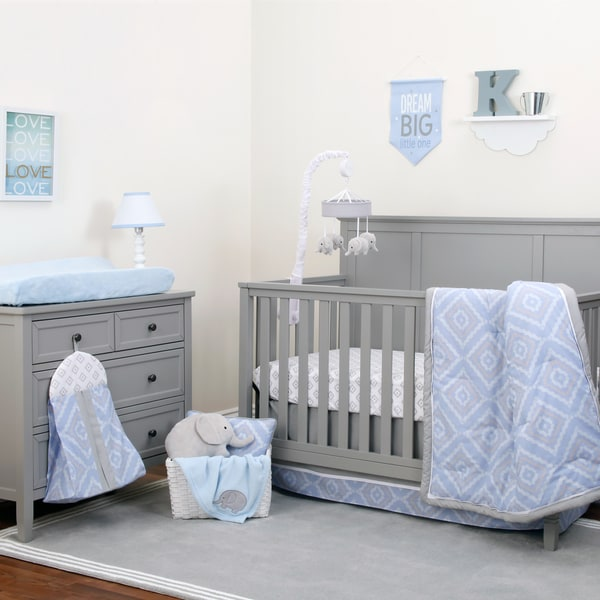 Nojo The Dreamer Collection 8pc Crib Bedding Set Blue