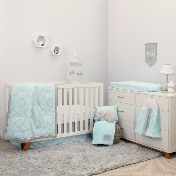 NoJo The Dreamer Collection 8pc Crib Bedding Set Mint