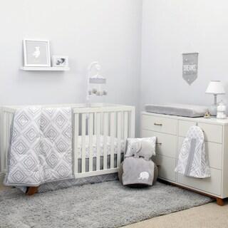 Nojo The Dreamer Collection 8pc Crib Bedding Set Grey