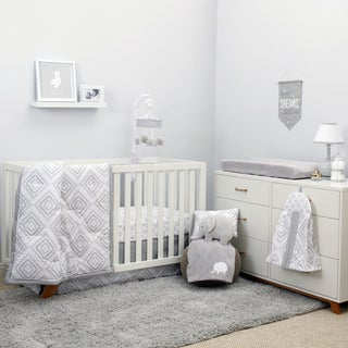 NoJo The Dreamer Collection 8pc Crib Bedding Set Grey