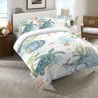 Laural Home Sealife Serenade Duvet Cover