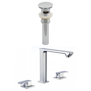 3H8-in. CUPC Approved Brass Faucet Set In Chrome Color - Overflow Drain Incl.