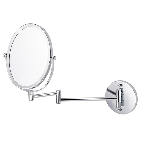 16.95-in. W Oval Mirror Wall Mount Magnifying Mirror In Chrome Color - N/A