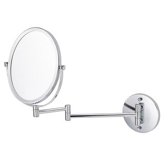 16.95-in. W Oval Brass-Mirror Wall Mount Magnifying Mirror In Chrome Color - N/A