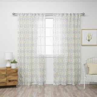 Aurora Home Fiesta Tile Curtain Panel Pair