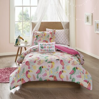 Mi Zone Kids You Can Toucan Pink 8-piece Bed in a Bag Set (2 options available)
