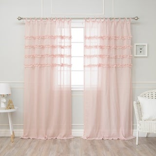 Aurora Home Ruffle Stripe Curtains
