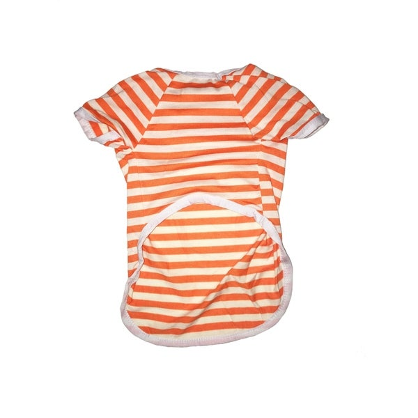 Striped Orange Tee Small