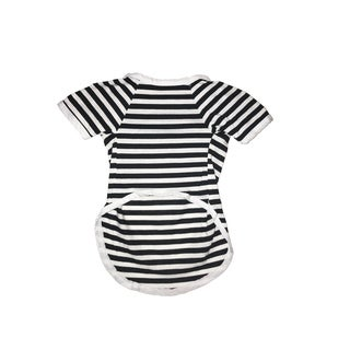 Striped Black Tee Large
