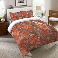 Laural Home Persimmon Marble Duvet Cover