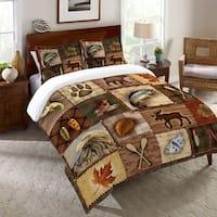 Laural Home Plaid Lodge Duvet Cover