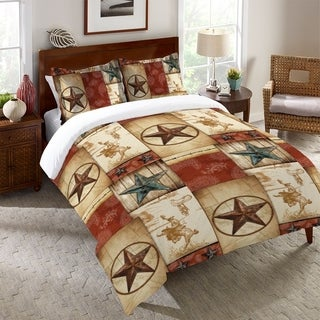 Laural Home Rodeo Patch Duvet Cover (3 options available)