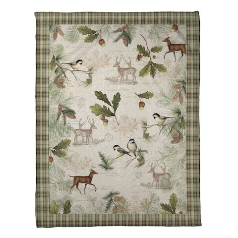 Laural Home Woodland Forest Fleece Throw