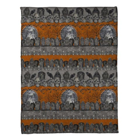 Laural Home Something Wicked Fleece Throw