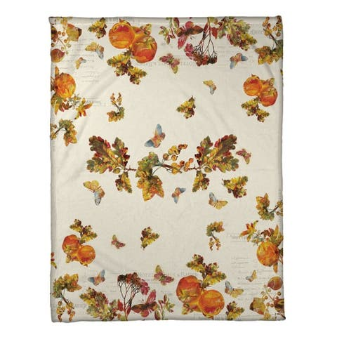 Laural Home Antique Autumn Fleece Throw