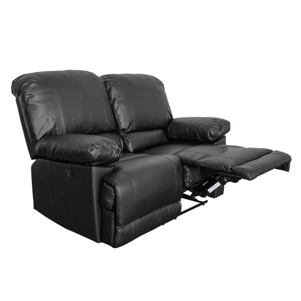 Pleasant Shop Corliving Lea Bonded Leather Power Reclining Loveseat Squirreltailoven Fun Painted Chair Ideas Images Squirreltailovenorg