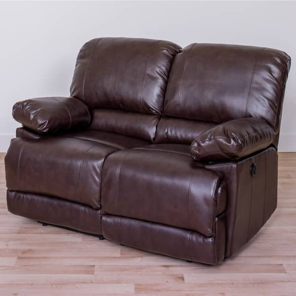 Marvelous Shop Corliving Lea Bonded Leather Power Reclining Loveseat Squirreltailoven Fun Painted Chair Ideas Images Squirreltailovenorg